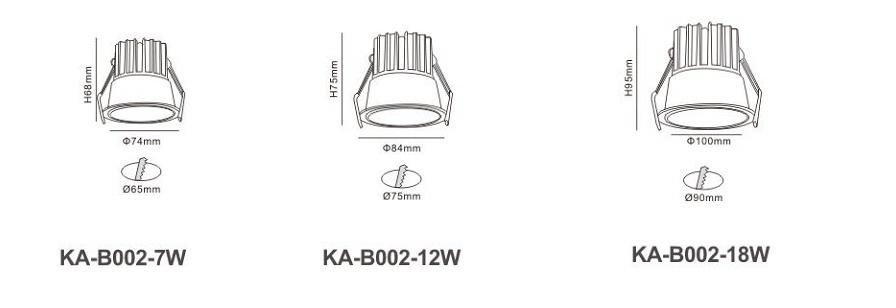 Đèn LED âm trần KA-B002