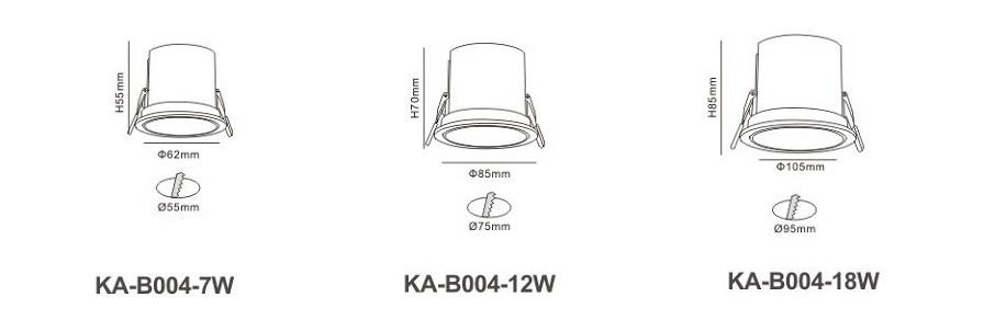 Đèn LED âm trần KA-B004