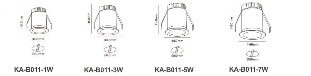 Đèn LED âm trần KA-B011