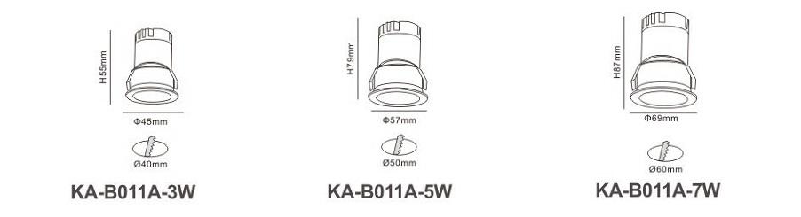 Đèn LED âm trần KA-B011A